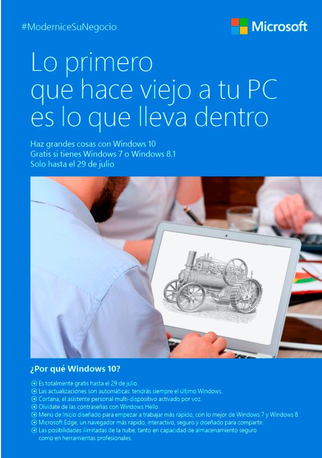 Actualiza a Windows 10 ahora.